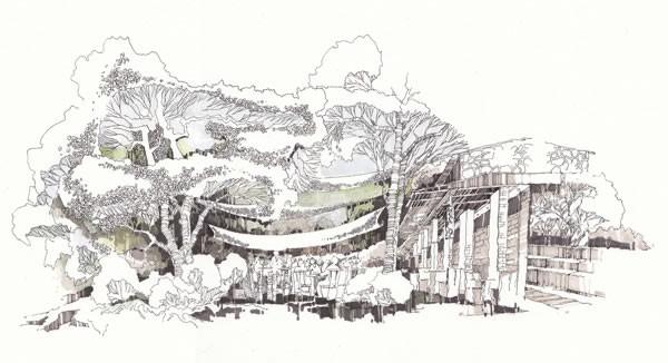 """第四届""""wa总统家""""杯建筑手绘艺术设计大赛设计师组一等奖作品《树下的"""
